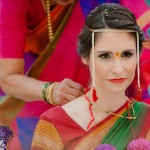 bride with artificial eye