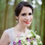 wedding photo of bride with artificial eye