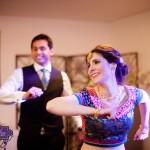 bride with artificial eye dancing