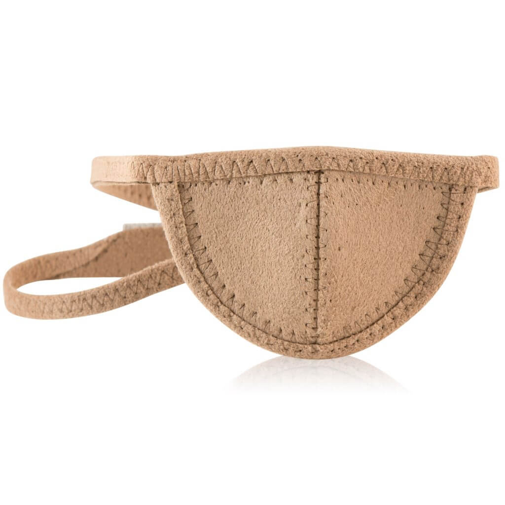 tan mini eye patch